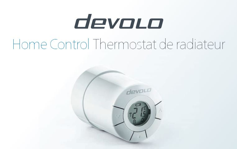 r/égulation du chauffage sans fil, thermostat connect/é, Z-Wave, pilotage via par appli iOS//Android, actionneur connect/é, installation facile Devolo Home Control Thermostat de radiateur